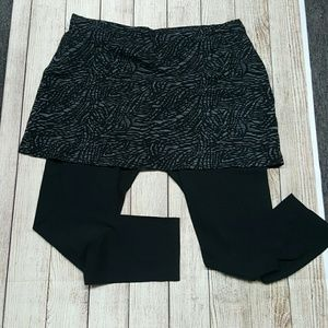 Skirt with connected leggings